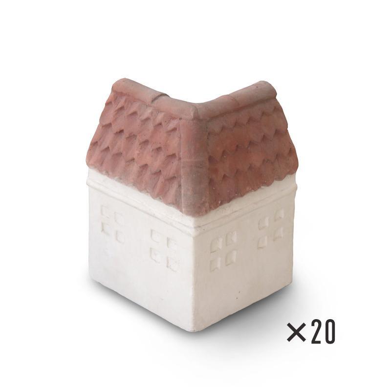 【NXstyle ガーデンルーフ R-C×20個 9900772】 花壇 プランター ガーデニング ミニブロック エクステリア