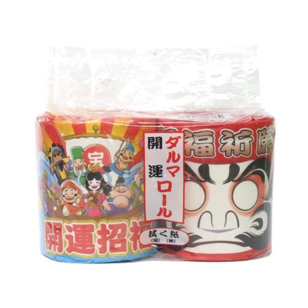 【開運招福 開運・ダルマ トイレットペーパー 60パック入 おみくじ付き 2808】