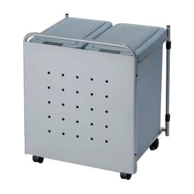 【オークス パネル付 ダストボックス J54】キッチン下 スリム 取っ手 キャスター スタイリッシュ 送料無料 ごみ箱 ダストボックス
