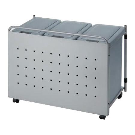 オークス パネル付 ダストボックス J55 キッチン下 スリム 取っ手 キャスター スタイリッシュ 送料無料 ごみ箱 ダストボックス