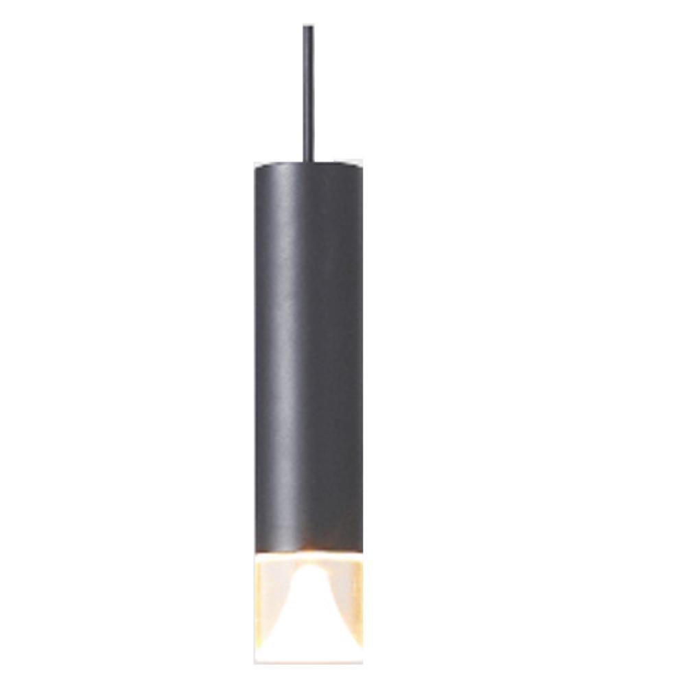 MotoM モトム LED アクリルカバー付円筒ペンダント ライト ダクトプラグ ブラック MPN06D-BK (天井照明 ダイニング用 リビング用 シンプル おしゃれ)