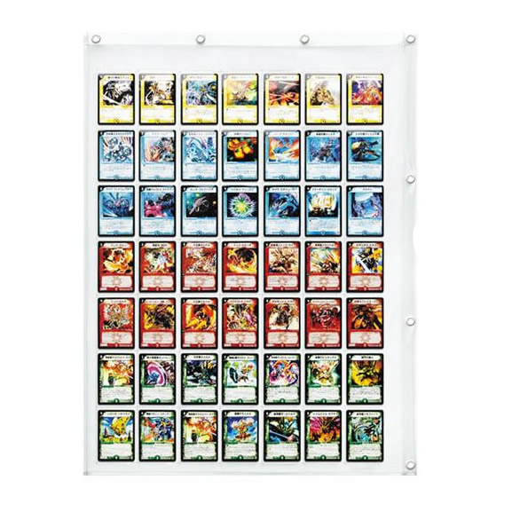 <title>日本製 SAKI サキ コレクションポケット トレカサイズ 49P W-170 クリア トレカサイズのウォールポケット 最新号掲載アイテム ウォールポケット ディスプレイ</title>