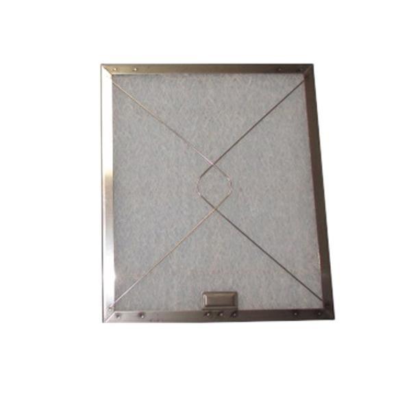 コスモフィルター レンジフードフィルター 差し込みタイプ 34.8×29.7 ステンレス製取付用枠3枚+フィルター3枚 (ガラス フィルター キッチン 換気扇)