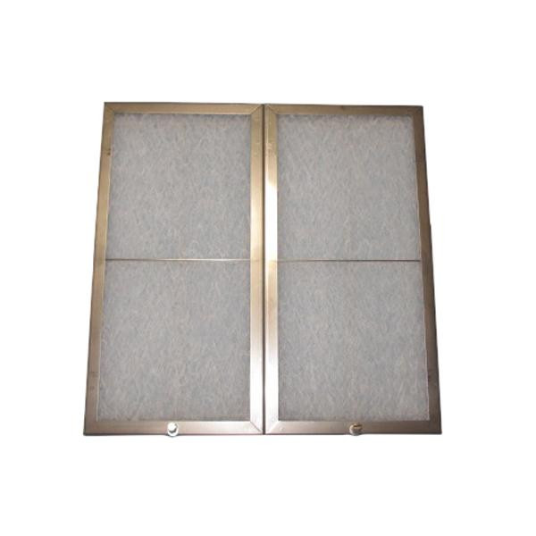 コスモフィルター レンジフードフィルター ネジ止めタイプ 39.2×19.6 ステンレス製取付用枠2枚+フィルター2枚 (ガラス フィルター キッチン 換気扇)