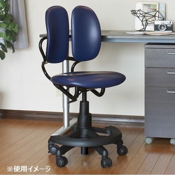 デスクチェア おしゃれ リクライニング 高機能 回転椅子 DR-289BY (NAVY)
