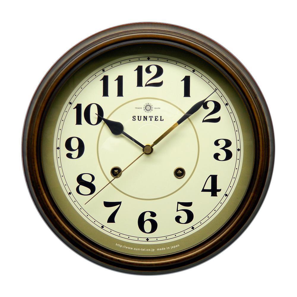 さんてる 日本製 EUスタイルクラシカル 電波掛け時計 アンティークブラウン DQL674-A (アラビア文字) (壁掛け時計 レトロ おしゃれ 手作り)