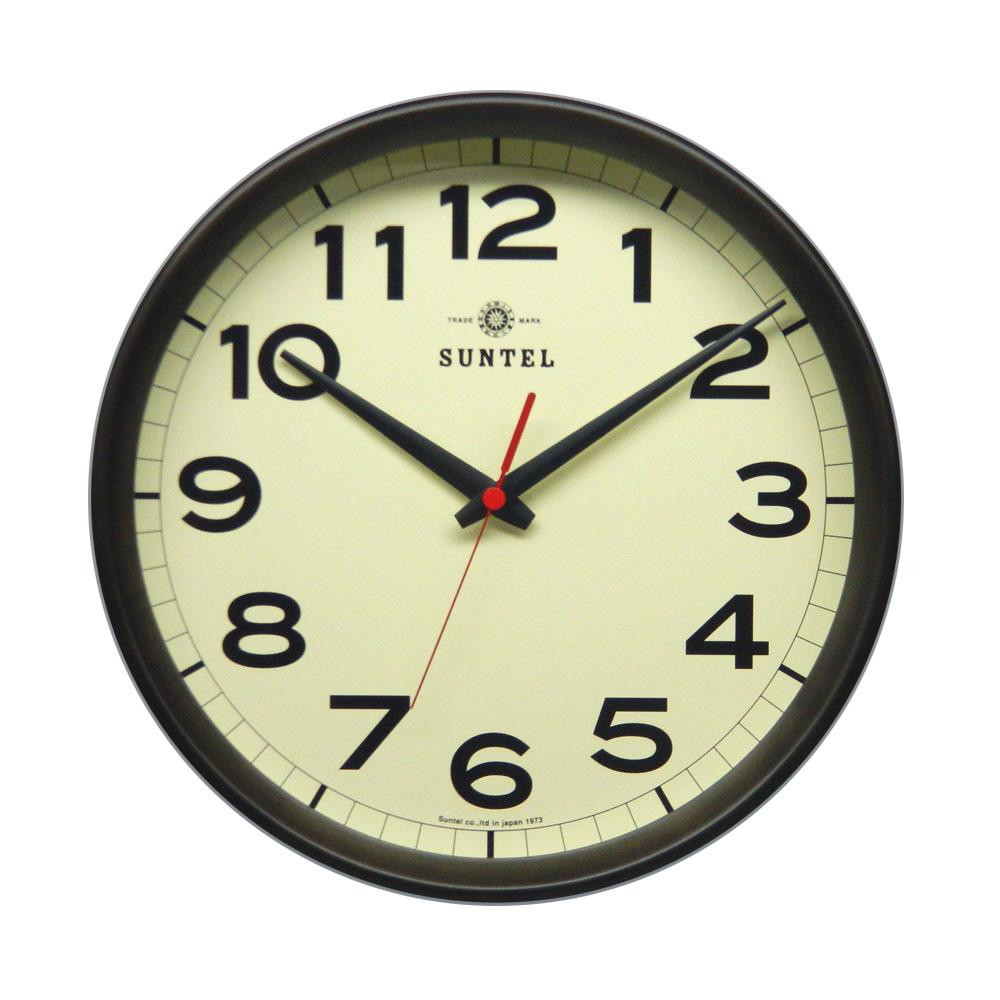 さんてる 日本製 シンプル電波掛け時計 ダークブラウン DQL699-DBR (壁掛け時計 おしゃれ 手作り 天然木 木製)
