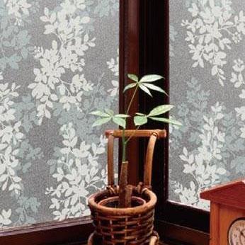 【空気が抜けやすい窓飾りシート(プリントタイプ) 92cm幅×15m巻 W(ホワイト) GDPR-9231】