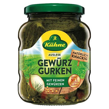 キューネ ガーキンス 370ml 10セット 053118 本場の味 早割クーポン おいしい 本格的 お料理に添えて 訳あり 輸入食品