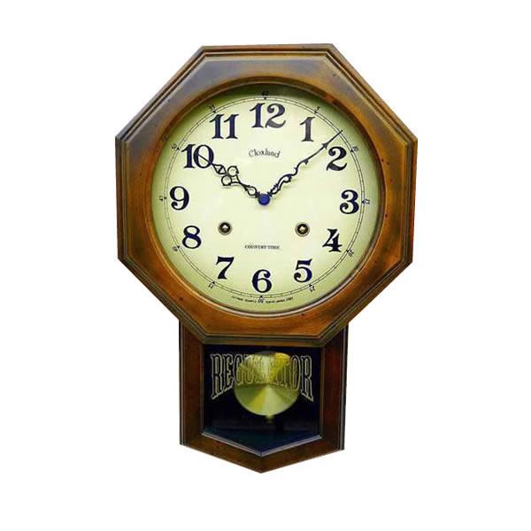 すぐ使える割引クーポン付!! アンティーク電波振り子時計(8角型) DQL624