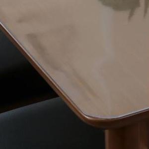 アキレス 高機能テーブルマット 角落し 厚1.5mm 90×120cm (透明テーブルマット 透明ビニールマット )