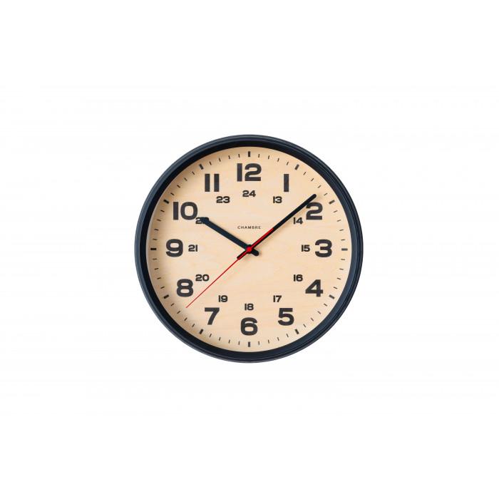 壁掛け時計 シンプル おしゃれ BRAM CLOCK 電波時計 BLACK・CH-050BK