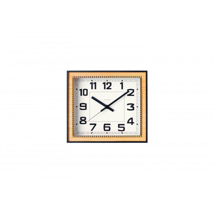 壁掛け時計 置き時計 シンプル おしゃれ BRASS RECTANGLE CLOCK 掛置き兼用時計 OAK・CH-053OA