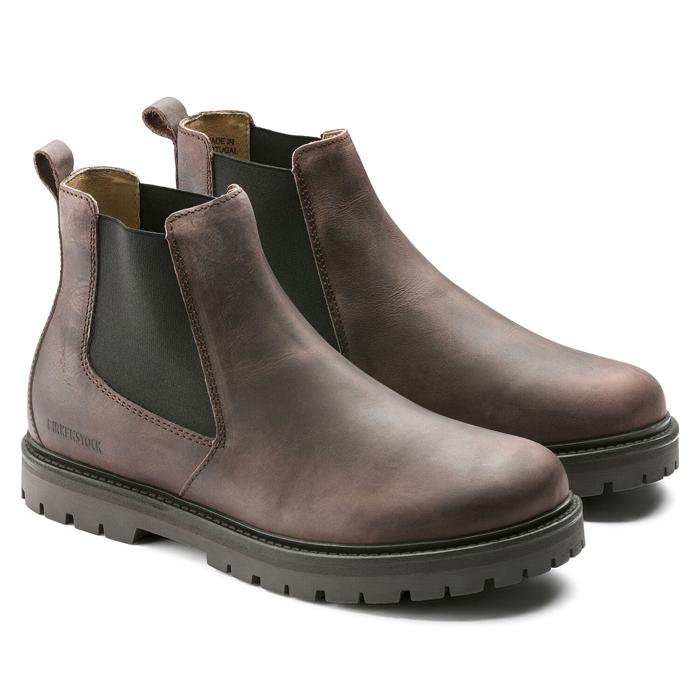 ビルケンシュトック メンズ スタロン サイドゴアブーツ ナチュラル レザー モカ 本革 革靴 レギュラーフィット 幅広 BIRKENSTOCK STALON 即納 SALE セール