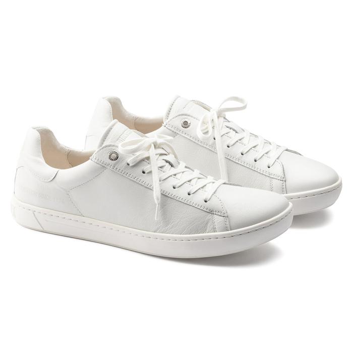 安心の日本正規品 送料無料 ビルケンシュトック レディース スニーカー レザーシューズ 革靴 ホワイト 新作販売 新発売 LEVIN セール ナローフィット SALE BIRKENSTOCK WOMENS 即納 幅狭