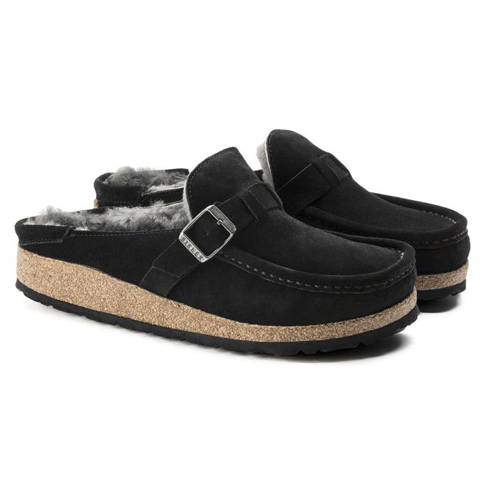 ビルケンシュトック レディース ブーツ バックリー スエード レザー シューズ シアリングブラック ナローフィット(幅狭) BIRKENSTOCK BUCKLEY SALE セール