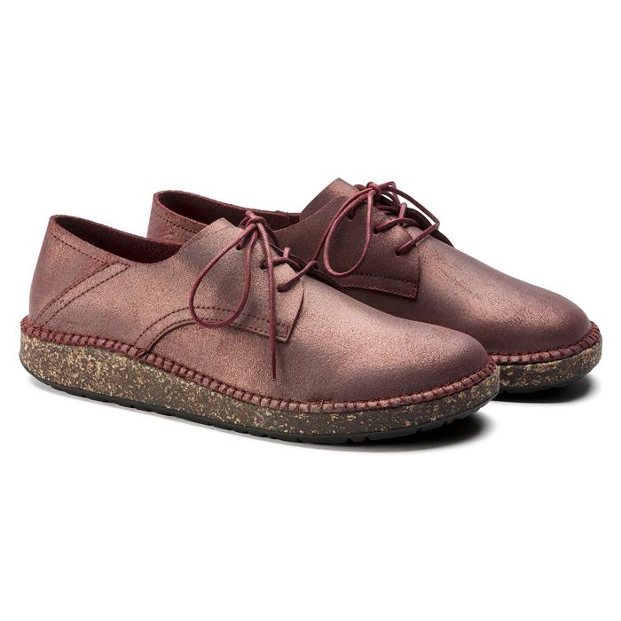 ビルケンシュトック レディース レザー ローカットスニーカー 革靴 ナローフィット(幅狭) BIRKENSTOCK GARY Metallic Red SALE セール