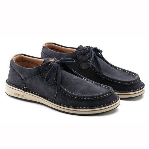日本正規品 送料無料  (SALE セール) ビルケンシュトック ブーツ メンズ レザー シューズ 革靴 本革 パサデナ ネイビー レギュラーフィット(幅広) BIRKENSTOCK PASADENA 即納