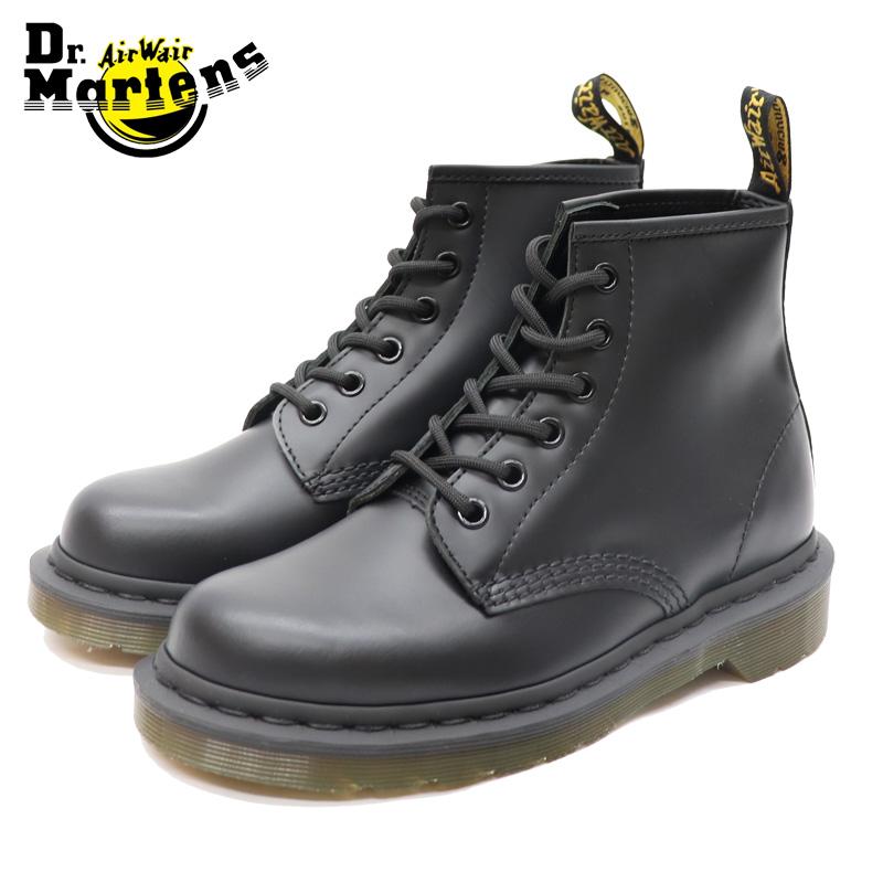 ドクターマーチン 国内正規品 ブラック 黒 6ホール ブーツ Dr.Martens 6‐EYE CORE 101 LACE LOW BOOT BLACK SMOOTH