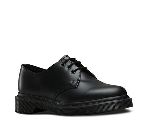 ドクターマーチン 日本正規品 ブーツ ローカット ブラック 黒 3ホール 1461 MONO 3EYE BLACK SMOOTH