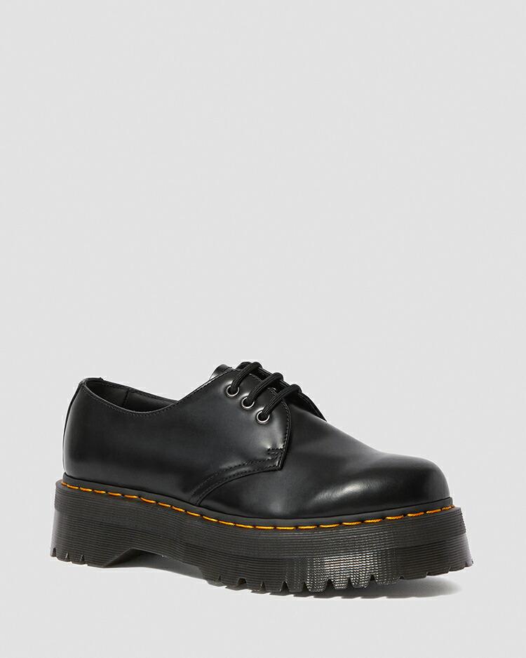 ドクターマーチン 国内正規品 送料無料 レディース メンズ  3 ホール シューズ ブーツ ブラック 黒 Dr.Martens 1461 QUAD