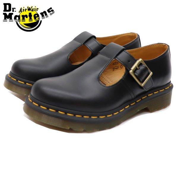 ドクターマーチン 国内正規品 即納 レディース ローファー ブーツ ローカット ブラック 黒 Dr.Martens POLLEY T-BAR BLACK SMOOTH