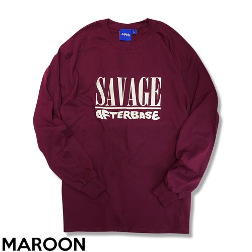 SALE-PRICE 買い物 SAVAGE ロングスリーブティーシャツ デポー L S T-SH オリジナルtシャツ ロンt メンズファッション メンズ アパレル ブランド