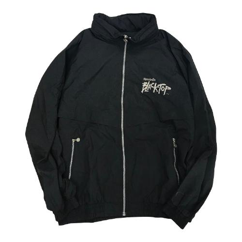 SALE-PRICE 海外直輸入USED品 REEBOK BLACK JACKET TOP 正規取扱店 NYLON 公式ショップ