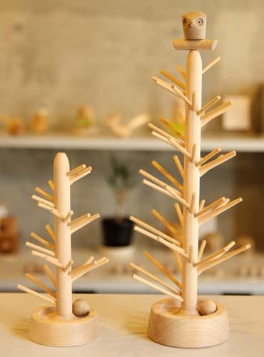 木の温もり伝わる木製遊具をお届けします! 【送料無料】旭川市・三浦木地製作 どんぐりコロコロ No50タイプ(高さ50cm)