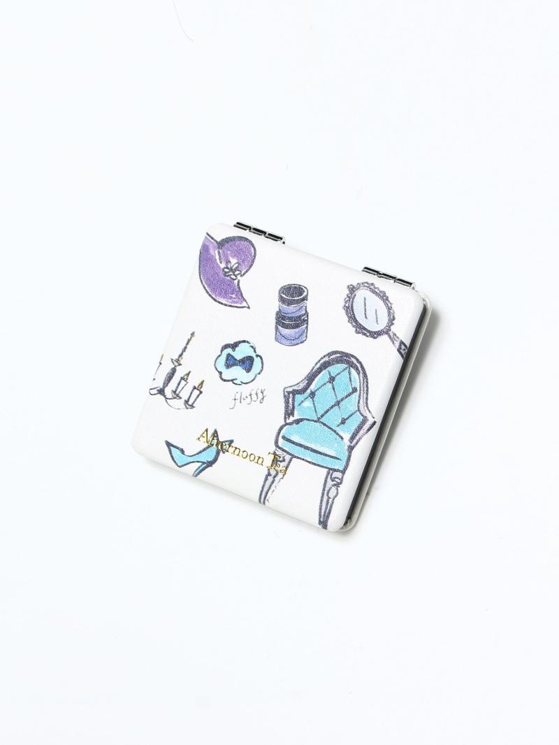 [Rakuten Fashion]フェミニンモチーフミニミラー Afternoon Tea アフタヌーンティー・リビング 生活雑貨 バス/トイレ/ランドリーグッズ ブルー