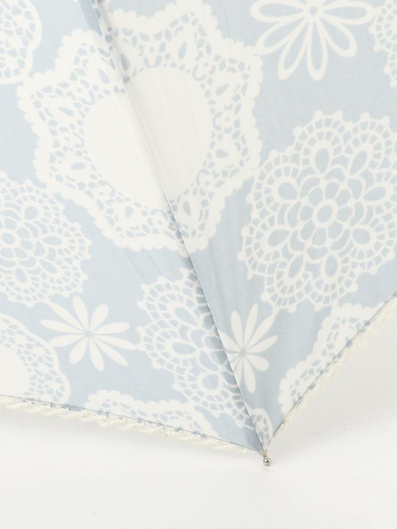 Afternoon Tea Living レディース 毎週更新 ファッショングッズ アフタヌーンティー リビング Rakuten フラワーレース晴雨兼用長傘雨傘 長傘 Fashion ブルー ネイビー