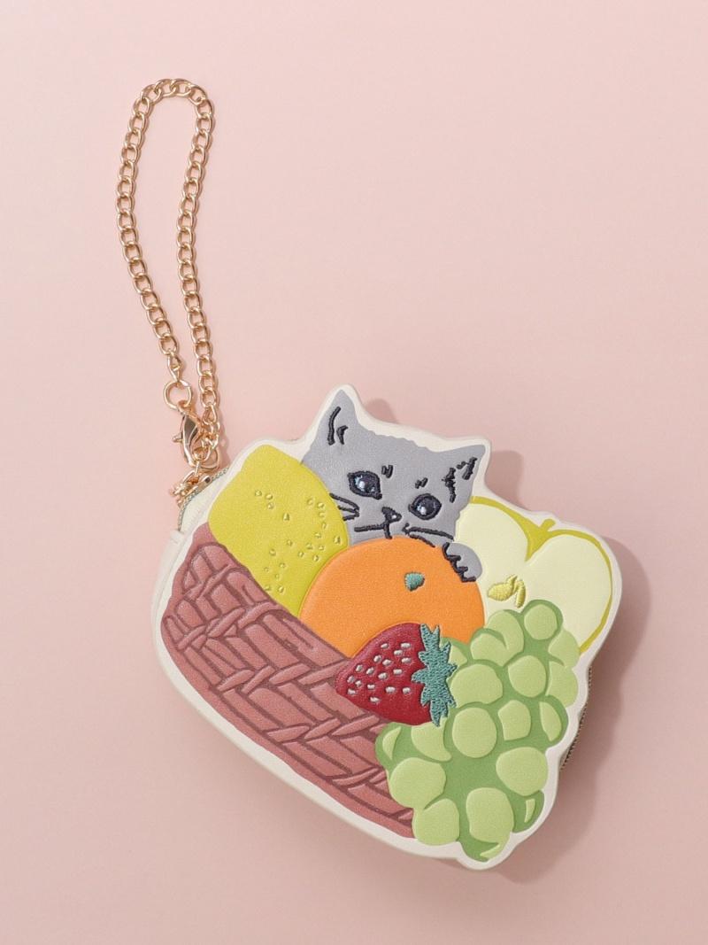 Afternoon Tea LIVING レディース バッグ 新品 アフタヌーンティー リビング SALE 20%OFF Fashion NapTime Cat's 市販 ホワイト RBA_E チェーン付きダイカットポーチ ポーチ Rakuten