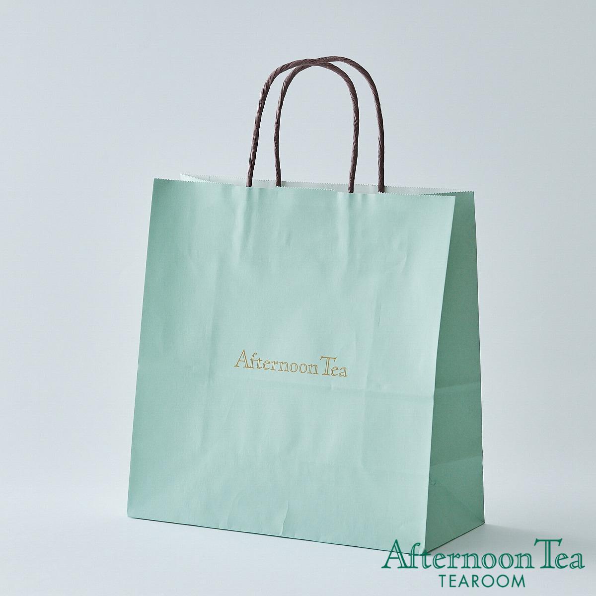 有料 紙製ショッピングバッグ紙袋M 大人気 ティールーム アフタヌーンティー 受注生産品