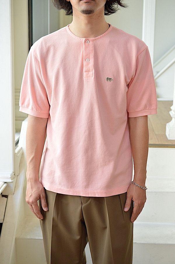 送料無料 Scye BASICS メンズ Cotton 奉呈 Pique Shirt Henley 5121-21701 格安 CS#GH Neck