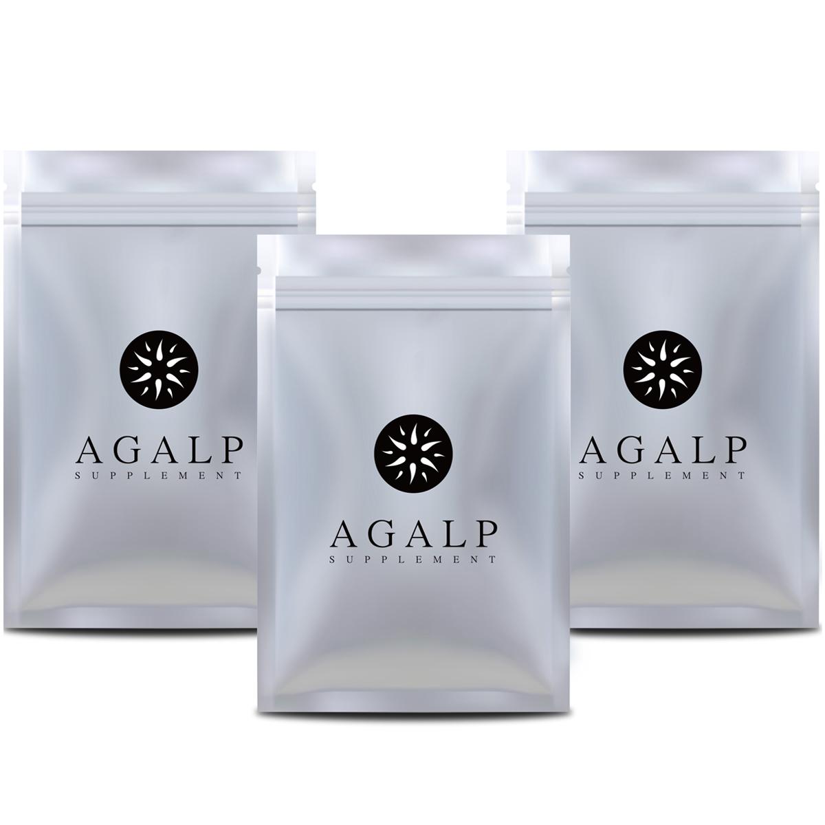 AGALP 育毛 サプリ ノコギリヤシ 亜鉛 育毛 発毛 薄毛 抜け毛 120粒×3袋
