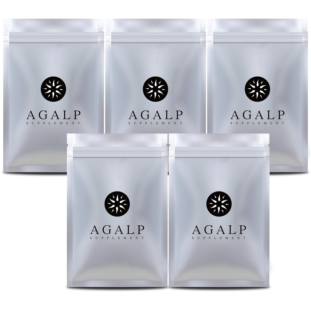 AGALP 育毛 サプリ ノコギリヤシ 亜鉛 育毛 発毛 薄毛 抜け毛 120粒×5袋