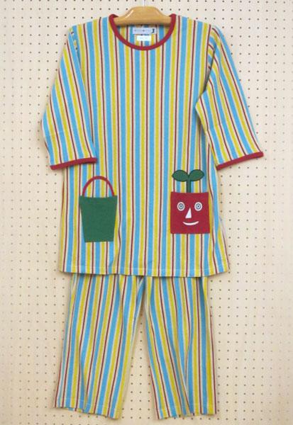 【ATSUKO MATANO】~ニットサッカーptストライプ植木鉢~メンズパジャマ