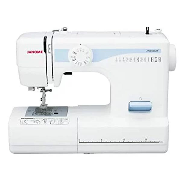 電動ミシン JANOME ジャノメ JN508DX フットコントローラータイプ 厚物縫い カンタン糸通し器 家電 【中古】 新着