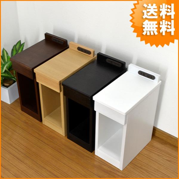 【送料無料】小スペースにも使用できるスリムタイプのナイトテーブル サイドテーブル/薄型/スリム/幅20cm/コンパクト/天然木/無垢/無垢材 ナイトチェスト/ベッドサイドテーブルMG-20 nkj-nt
