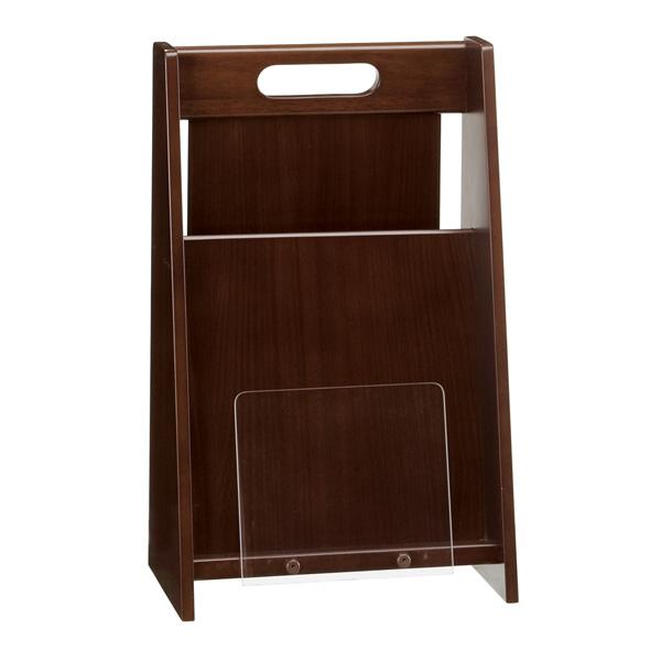 【送料無料】シンプルなデザインでお洒落な木製のマガジンラックシェルト0502BR