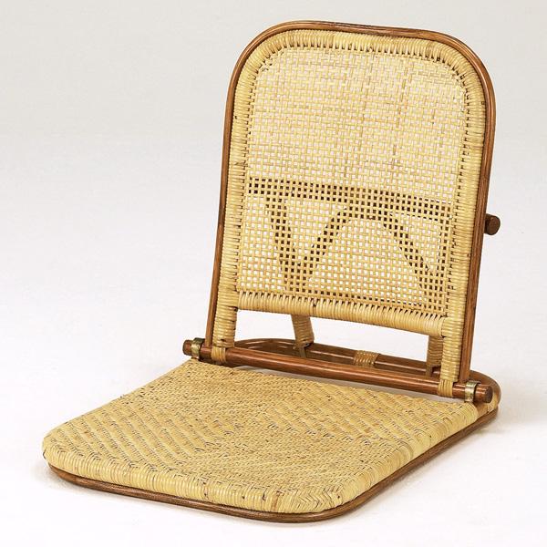 【送料無料】天然の素材を使用しアジロ編みを施したお洒落な座椅子ラタン座椅子 籐座椅子 NO307A