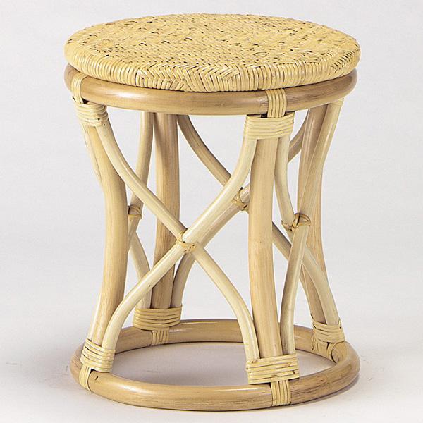【送料無料】天然の素材を使用しアジロ編みを施したお洒落なスツールラタンスツール 籐椅子 籐スツール S-11N