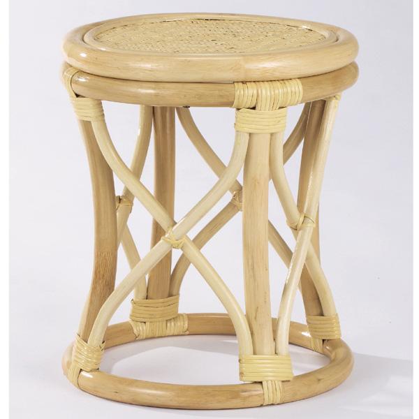 【送料無料】天然の素材を使用しアジロ編みを施したお洒落なスツールラタンスツール 籐椅子 籐スツール S-12-2N