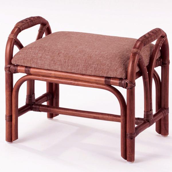 代引き不可商品 【送料無料】天然の素材を使用したお洒落で上質な籐製のスツールラタンスツール 籐椅子 ラタンチェア S-62D