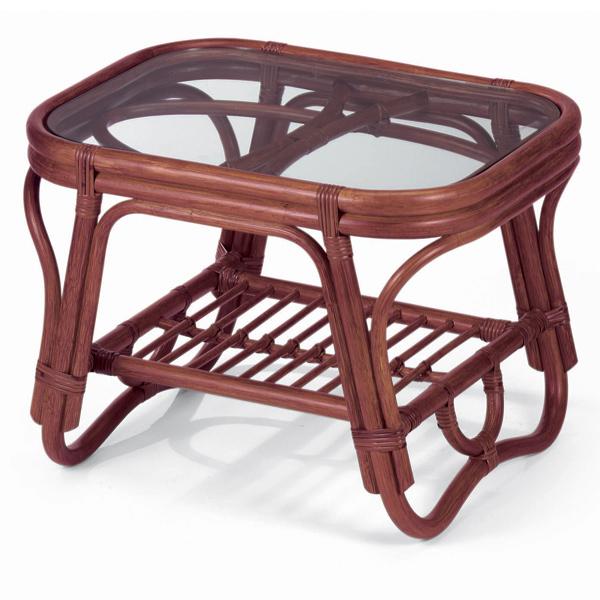 代引き不可商品【送料無料】天然の素材とガラスを使用したコンパクトでお洒落なリビングテーブルガラステーブル センターテーブル NO36D