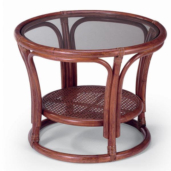 代引き不可商品【送料無料】天然の素材とガラスを使用したコンパクトでお洒落なリビングテーブルガラステーブル センターテーブル NO21D