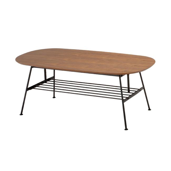 送料無料 高さ調整ができるお洒落な木製リビングテーブルセンターテーブル/コーヒーテーブル/テーブル/ANT-2734BR-Ichi