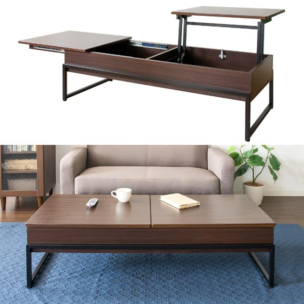 天板昇降テーブル Belle(ベル)スライド天板 センターテーブル スチール おしゃれ 本体完成品 送料無料 ct-l1250