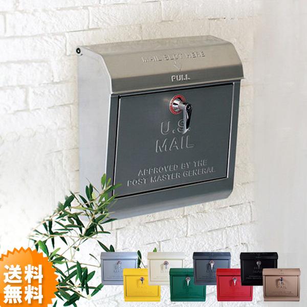 アメリカン雑貨のような外国っぽいデザインのスチールポスト 郵便受け ポスト 壁付け 壁掛け 郵便ポスト おしゃれ POST MAIL BOX メールボックス 新聞入れ  送料無料 お洒落なアメリカンスタイルのU.S Mailbox 壁掛けポスト 文字有 ポスト 壁付け 壁掛け 壁掛 郵便受け 郵便ポスト おしゃれ スチールポスト POST TK-2075アートワークスタジオ