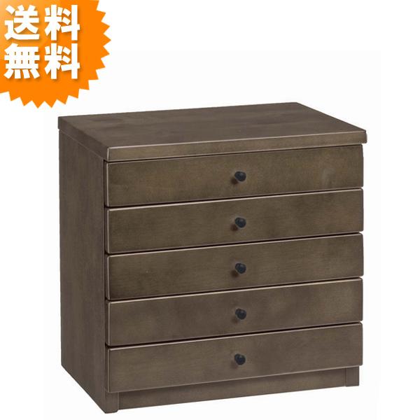整理箱 5段 spada ブラウン 木製 収納 完成品 おしゃれ スパーダ 5135